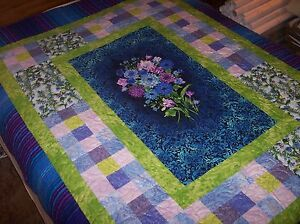 Handcrafted & Finished Pieces Crafts Forceful Beautiful Quilt Handcrafted Cotton Quilt Quilt #6 Rich And Magnificent
