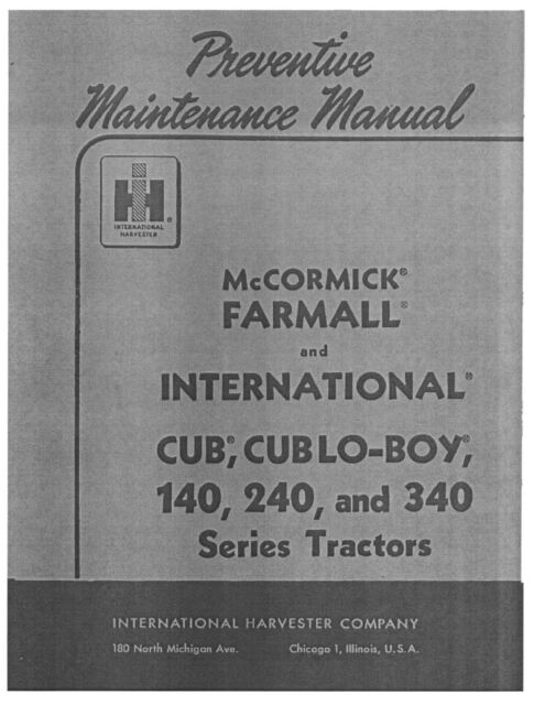 ih international harvester 340 tractor shop workshop service repair manual download