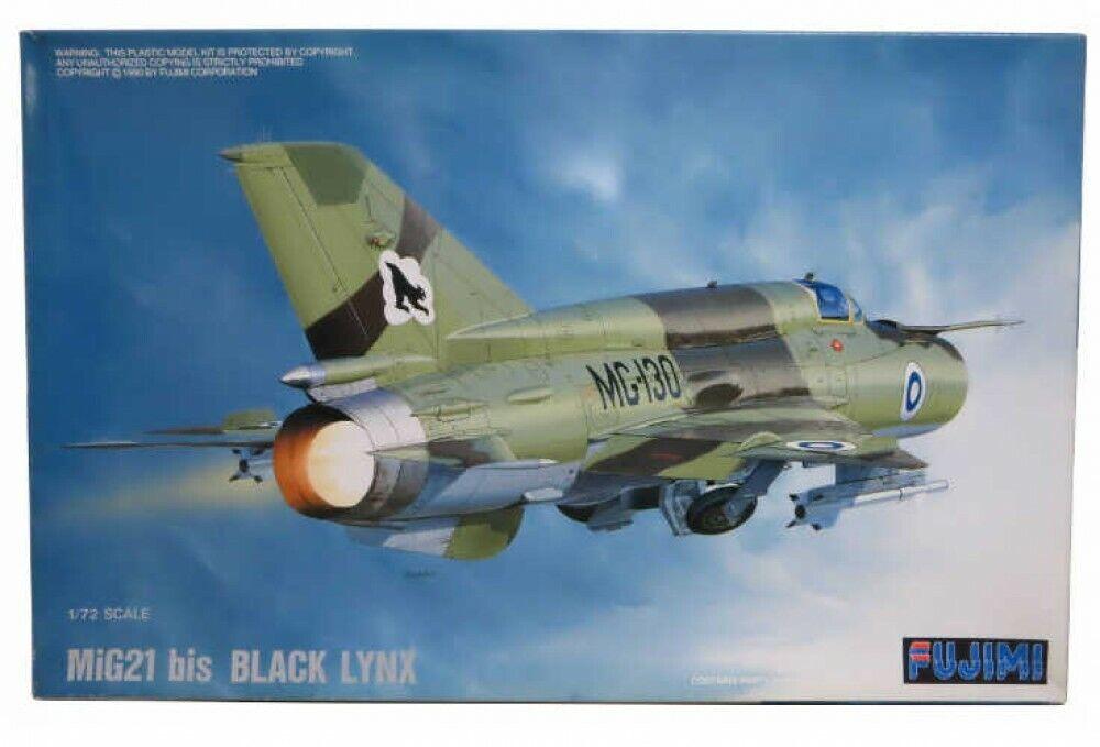 Fujimi H21 1 72 Escala Mig21 Bis Negro Lynx Kit de Modelismo Japón con Tracking