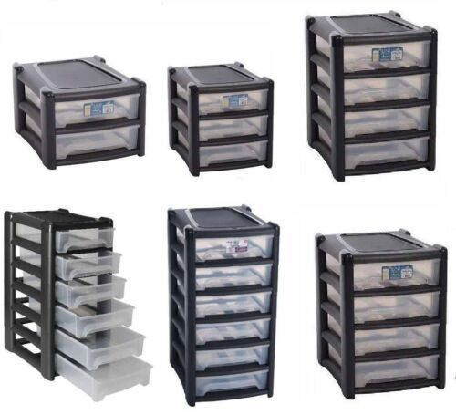 Strong Plastic 2/3/4/6 Drawer A4 Tower Storage Unit Home/Office/Bedroom Cabinet