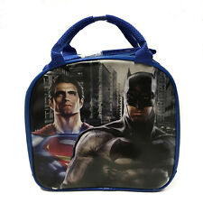 DC Comics Batman VS Superman Insulated Lunch Bag w/ Water Bottle (Blue)