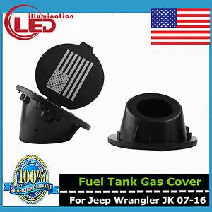 USA Flag Gas Tank Fuel Filler Cover Cap for Jeep 2007-Now Wrangler JK 2//4 Door