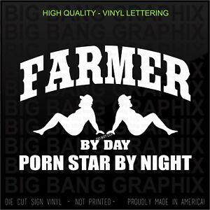 Funny Vintage Tractor Vinyl Decal Car Window Sticker Perverted Farmer Joke Gift