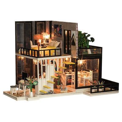 1//24 DIY Miniature Dollhouse With Furniture Kit Cafe Life Scene Decoration