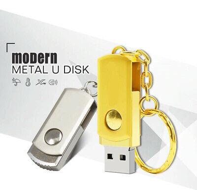 Gold Bar Métal 16GO USB 2.0 Clé USB Clef Mémoire Flash USB