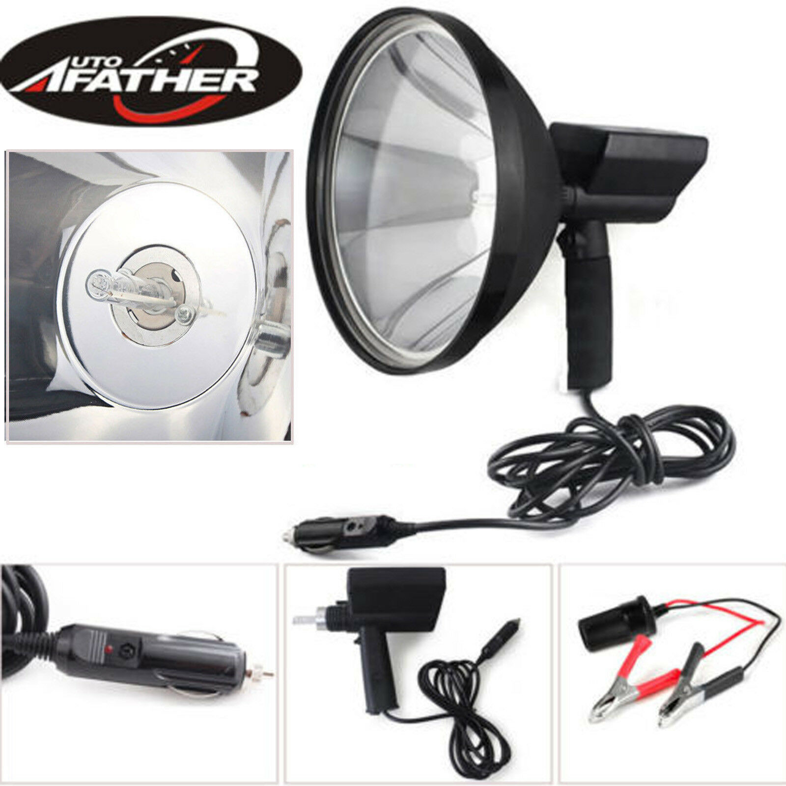 Spot Light Handheld Xenon   LED Spotlight Camping Hunting Fishing Off Road 1980W