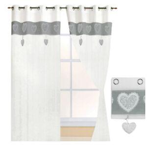 Tende finestre porta interno coppia 2pz più misure tessuto lino casa shabby chic