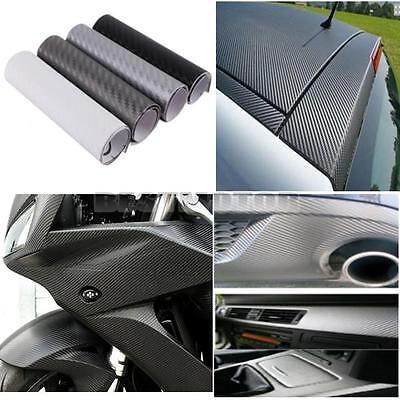 "4""x8"" 3D Carbon Fiber Vinyl Wrap Film Car Vehicle Sticker Sheet Roll 10x20cm"