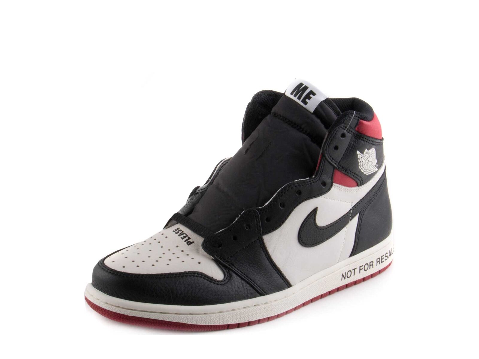 Nike Mens Air Jordan 1 Retro High OG Not For Resale Sail Blk-Vrsy Red 861428-106