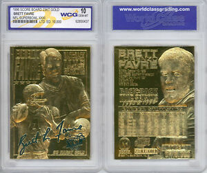 1996-BRETT-FAVRE-SUPERBOWL-LIMITED-SCULPTURED-23K-GOLD-CARD-GRADED-GEM-MINT-10