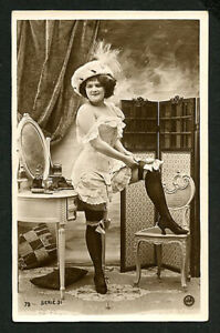 french 1915 lingerie fashion plate corset garter belt