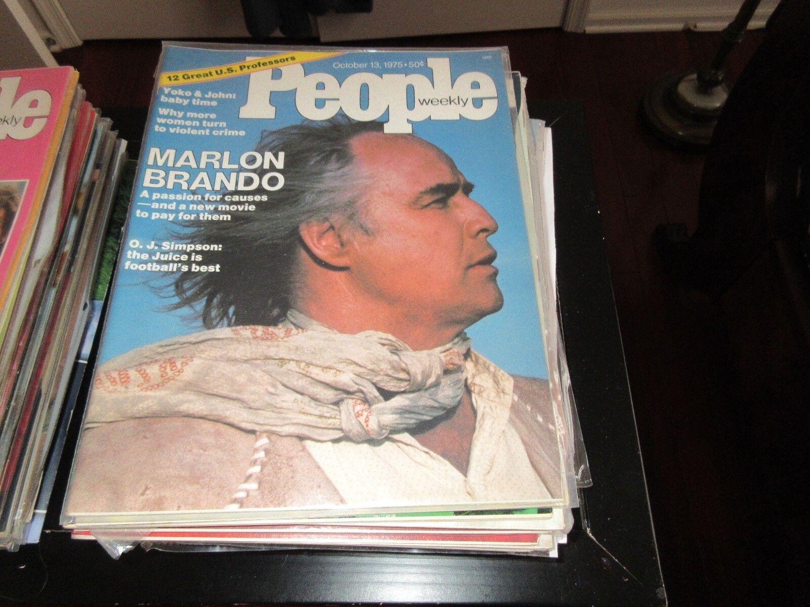 PEOPLE MAGAZINE , 10/13/75, Marlon Brando , Yoko&John ,