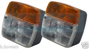 PAIR-OF-SQUARE-FRONT-INDICATOR-FLASHER-SIDE-LIGHTS-POSITION-LAMPS-FOR-TRACTOR