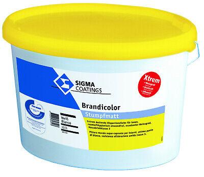 Sigma Brandicolor 12,5 Liter Weiss ++matte Dispersionsfarbe+++ Sonstige Heimwerker