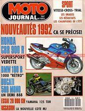 MOTO JOURNAL 1001 Soichiro HONDA YAMAHA TDR 125 BMW GS Nico Bakker GUZZI 1000