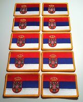 20 Serbia Flag Iron-on Tactical Patch Serbian Military Army Emblem Embroidered