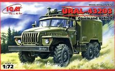 URAL 43203 COMMAND VEHICLE (SOVIET, RUSSIAN, GERMAN, UKRAINIAN MKGS) 1/72 ICM