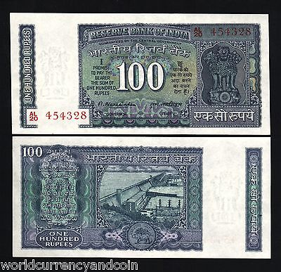 I RESERVE BANK OF INDIA 100 RUPEES P-64d UNC SIGN Patel 1977-1982 PLATE A G