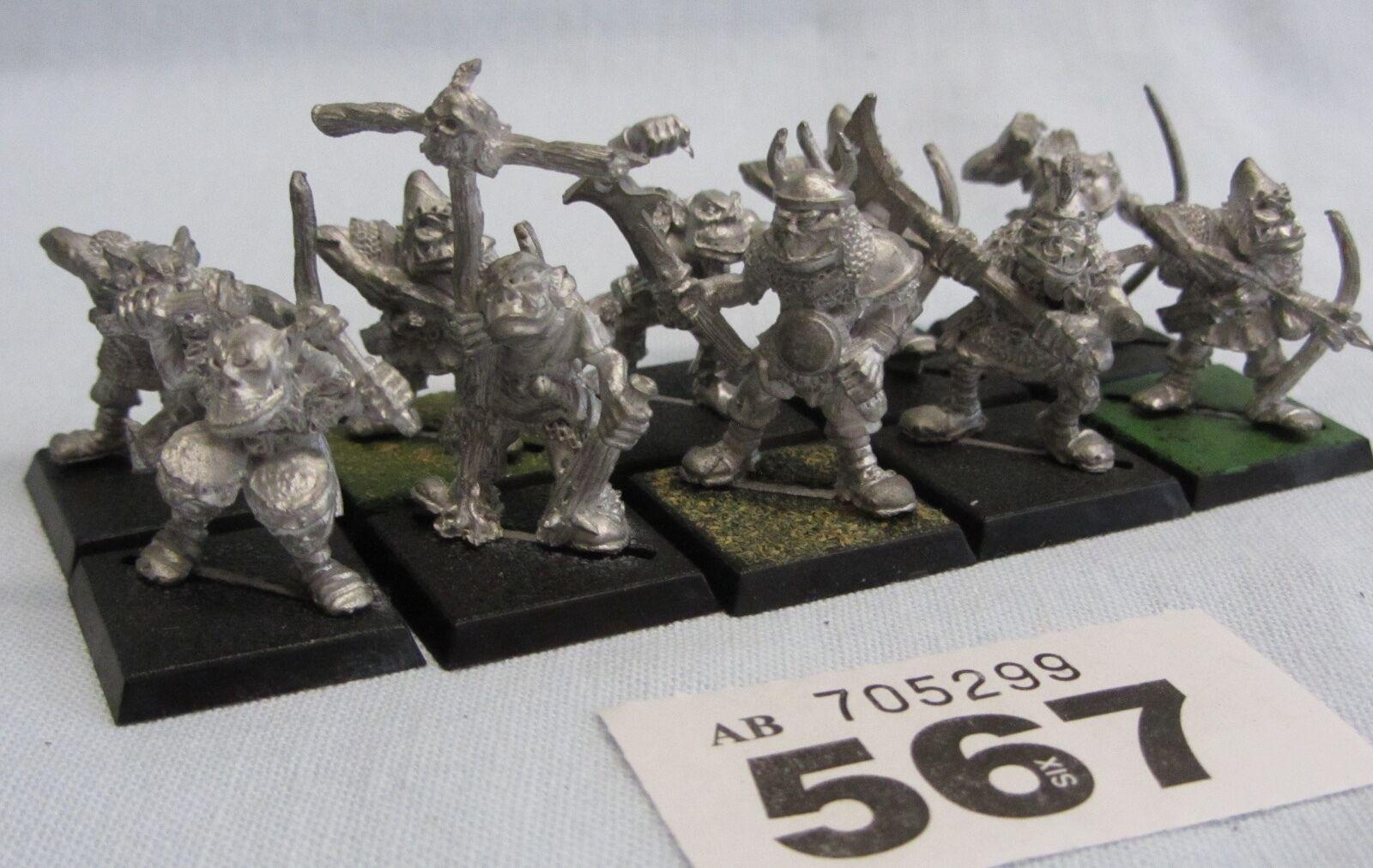 GW Warhammer Orcs & Goblins - RRD3 Harboth Orc Archer reg inc command(metal) x10