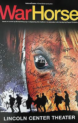 Warhorse Closing Night Cast Signed 14x22 Window Card War Horse Coa Relieving Heat And Thirst. Theater Entertainment Memorabilia