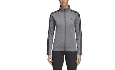 NEW Adidas Women's Designed 2 Move Regular Fit 3-Stripes Full Zip Track Jacket