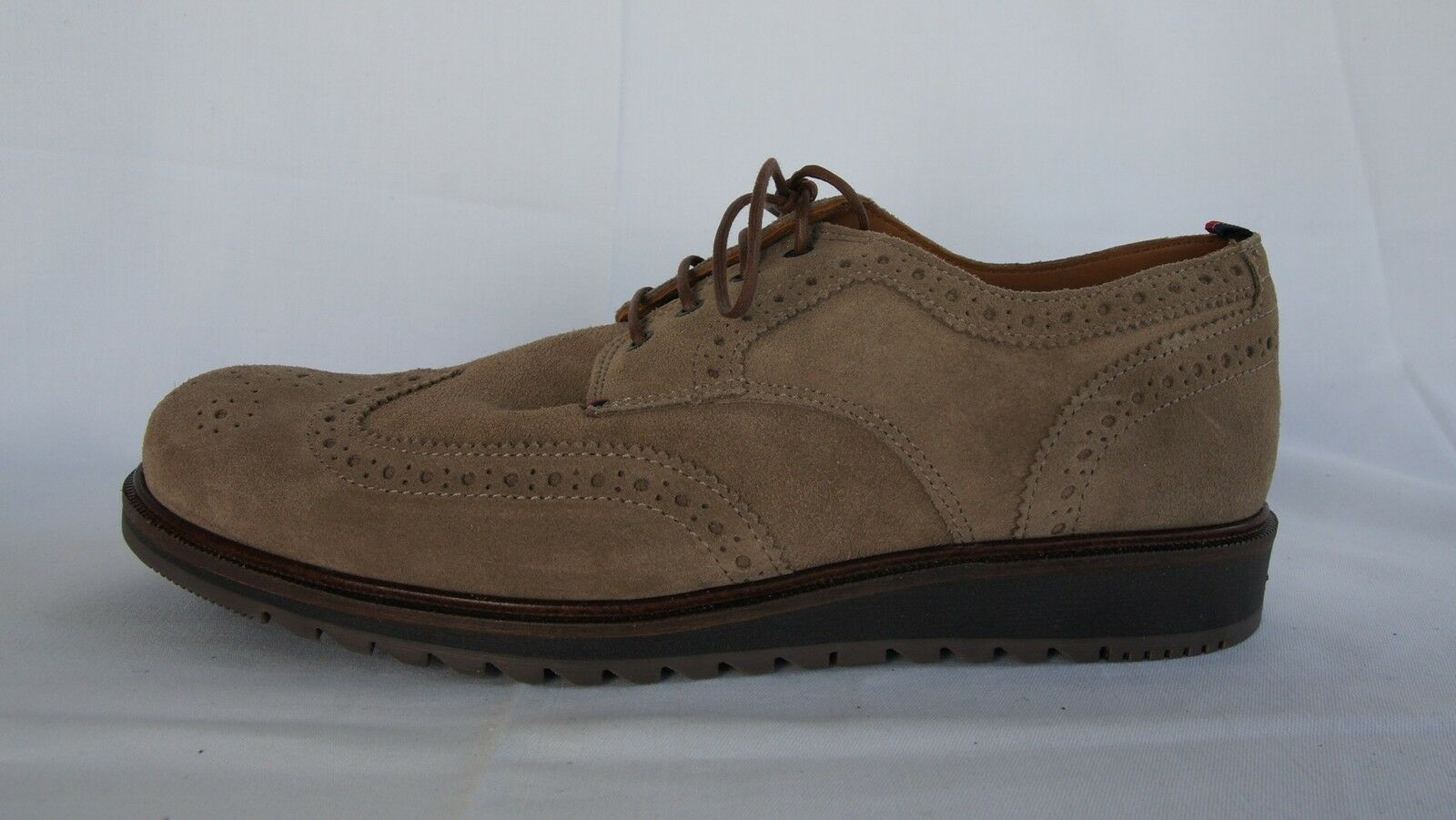 Tommy Hilfiger talla 42 caballeros schnürschuhe zapato bajo boston 2b beige PVP 160