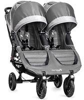 Baby Jogger City Mini Gt Double Twin All Terrain Stroller Steel Gray 2016