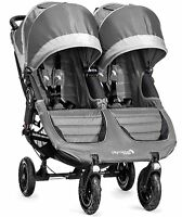 Baby Jogger City Mini Gt Double Twin All Terrain Stroller Steel Gray 2016