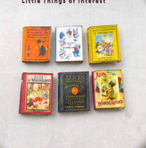 1:24 Scale Book ALICE IN WONDERLAND Miniature Book Dollhouse Illustrated Book