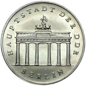 Gedenkmuenze-DDR-5-Mark-1987-A-Brandenburger-Tor-Stempelglanz-UNC