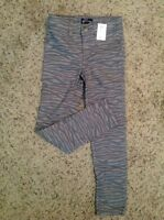 The Children's Place Gray Zebra Animal Print Jeggings Pants 6,