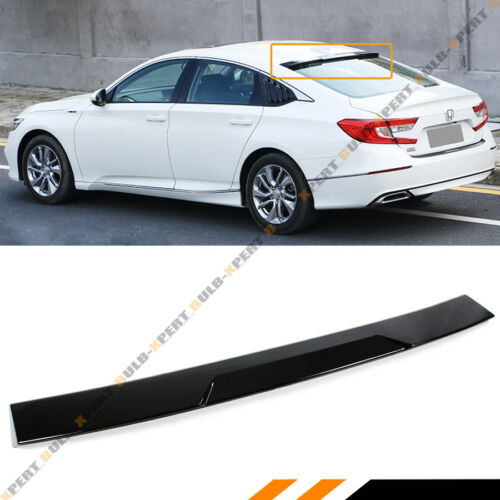 FOR 2018 HONDA ACCORD EX LX SPORT GLOSSY BLACK REAR WINDOW ROOF SPOILER VISOR