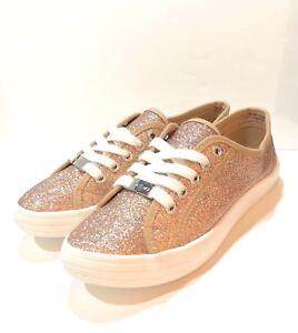 Rose Gold Fashion Glitter Dane Shoes