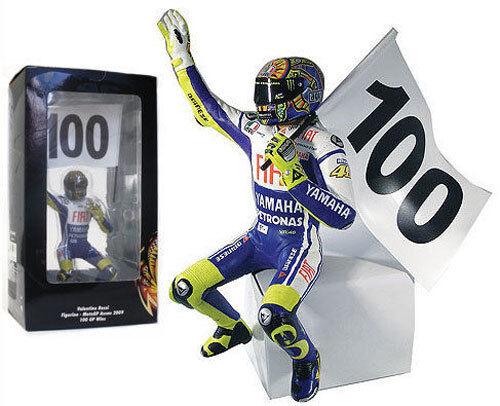 Minichamps VALENTINO ROSSI RIDING FIGURINE ASSEN MOTOGP 2009 100 VINCE SCALA 1/12