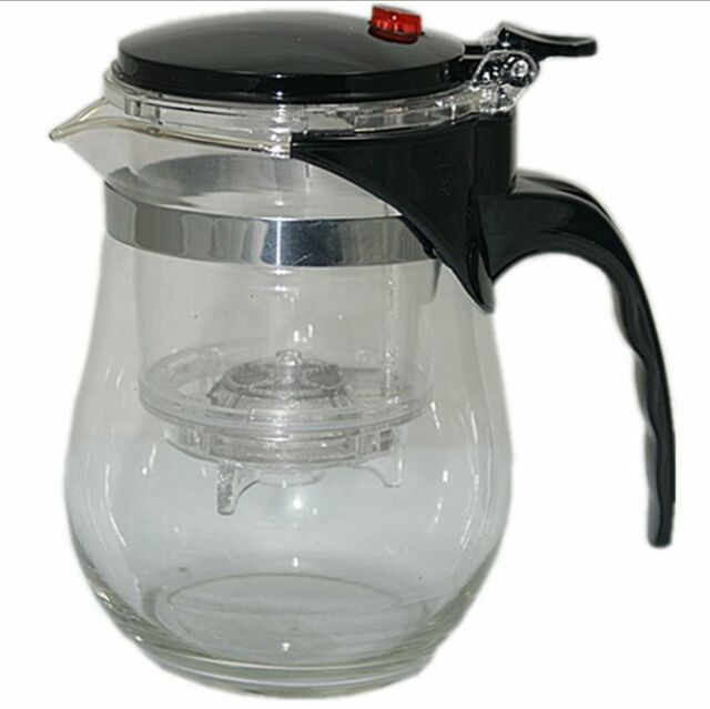 500 ml Clear Glass Chinese Gongfu Tea Maker Press Tea Cup Pot New USA SELLER