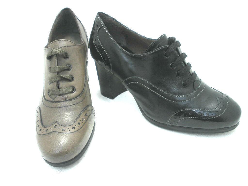 schuhe Damens MELLUSO FRANCESINA L5100  PELLE NERO  E MOUSSE MADE IN ITALY Schuhe