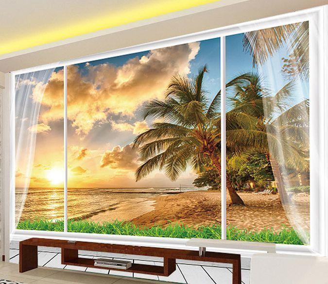 3D Cielo, mare 67 Parete Murale Foto Carta da parati immagine sfondo muro stampa