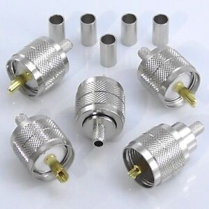 5pcs-PL259-Crimp-Plug-Male-for-RG58-RG223-LMR195-UHF-Plug