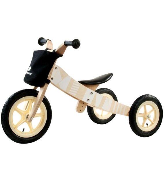 Dreirad Laufrad Kinderfahrzeug Kinderwagen Fahrrad Holz Kinderfahrrad Laufrad Dreirad schwarz a9803c