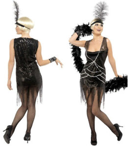 Halloween Paillettes Da Charleston Vestito Costume Donna Carnevale wvYanfqX
