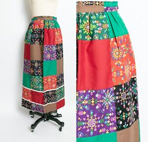 70s Patchwork Skirt 1970/'s Lace Patchwork Maxi Skirt