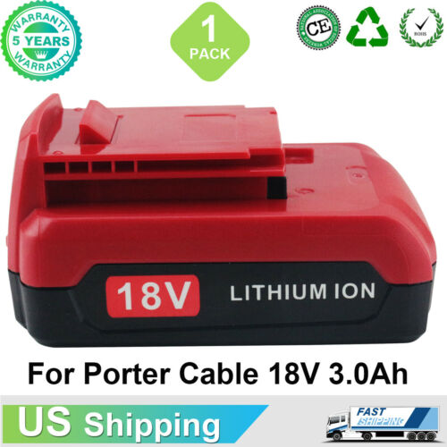 PC18B 18V 3.0Ah Replacement For Porter Cable Lithium Battery PC18BLX PC18BL Tool