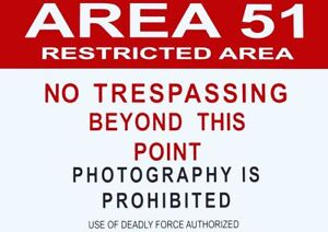 graphic regarding Printable No Trespassing Sign named Information and facts relating to Room 51 Caution NO TRESPASSING Indicator A3 Artwork PRINT POSTER YF5031