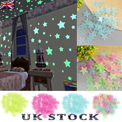 100//200//500 Pcs Stars Sticker Wall Stickers Luminous Living Room Wall Decal Gift