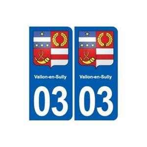 03 Vallon-en-sully Blason Ville Autocollant Plaque Stickers