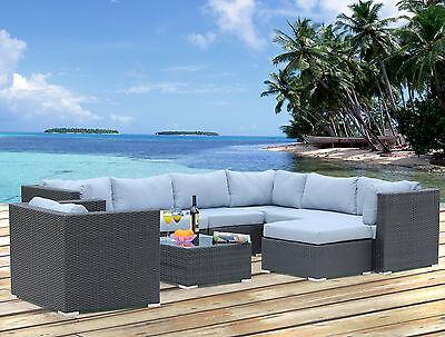 Polyrattan Lounge Sitzgruppe Gartenmöbel Garnitur Poly Rattan 3 bis 8 Sitzplätze