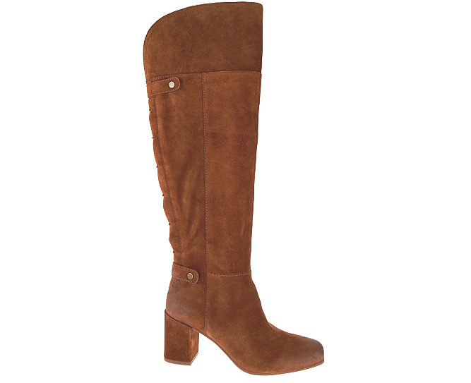 Franco Sarto Women's Suede Tall Shaft Pava Brown Boots 7073* Size 8 M