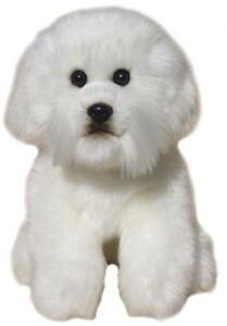 Plush Bichon Frise Soft Plush Toy Stuffed Animal Realistic Dog 30 5