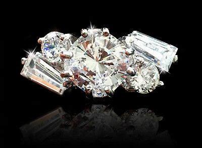 1.5 Cushion Free Form Ring Brilliant Top Quality Cz Moissanite Simulant 7 Other Fine Rings
