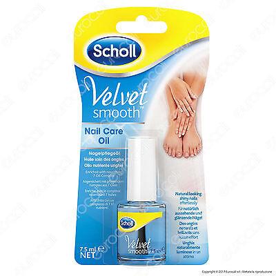 Scholl Velvet Smooth Olio Nutriente per Unghie Smalto Oil Nail Care 7,5 ml